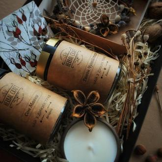 Подарунковий набір (2 баночки чаю з диких трав, свічка, ловець снів)