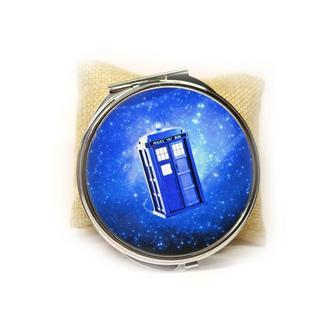 Карманное зеркало Доктор Кто с Тардисом