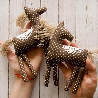 Лошадки текстильные (сет из 2 штук)