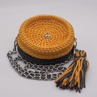 Вязаная женская сумочка