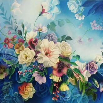 """""""Пробуждение"""", цветочная живопись для спальни, цветы"""