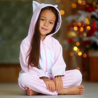Спортивный костюм велюровый для девочек (худи + брюки)
