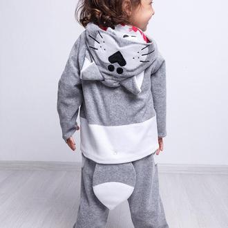 Спортивный костюм для девочки велюровый (худи + штанишки)