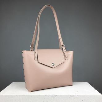 Кожаная сумка шоппер (art:40024)