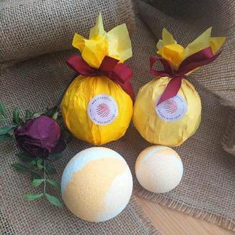 Бомбочка для ванни! Жовта з теплим духмяним ароматом Сходу