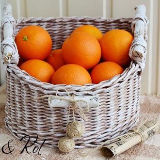 Корзинка плетеная для фруктов 26х26х17см.
