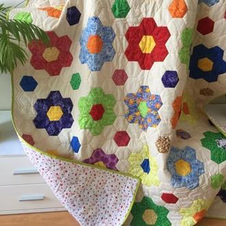 Плед покрывало одеяло лоскутное детское пэчворк