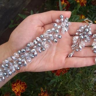 Весільні прикраси, прикраси на весілля, сережки на весілля, весільні сережки