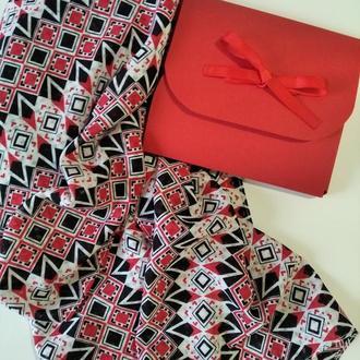 Шарф шифоновый в подарочной упаковке