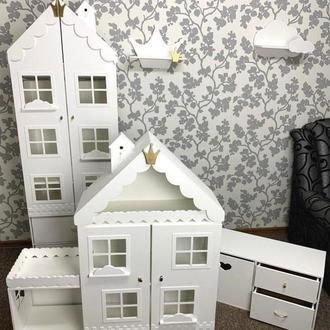 Шкаф + стеллаж + домик + полки + тумба