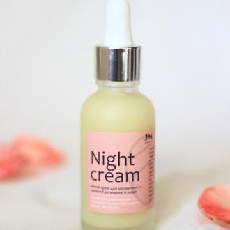 Ночной крем для нормальной и склонной к жирности кожи