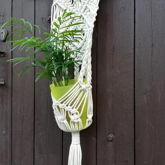 макраме панно-кашпо для цветов