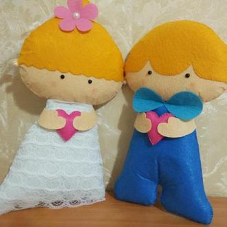 Игрушки из фетра. Жених и невеста