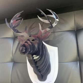 Светильник голова оленя (head of a deer lamp) БРА Акрил день ночь