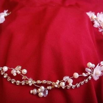 Свадебные украшения для волос. Веночек с цветами.