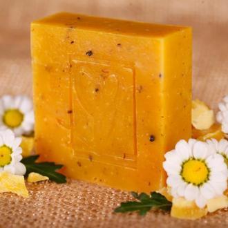 Натуральное мыло  Травяной отвар с пчелиным воском с отваром ромашки, череды,календулы