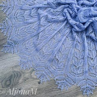 Ажурная шаль цвета Лаванды