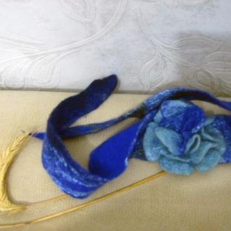 Декоративная повязка Бирюза