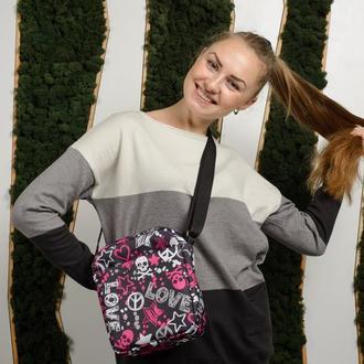 Жіноча сумка месенджер з принтом