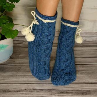 Красивые шерстяные носки