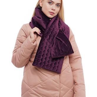 "Тёплый бархатный стёганный шарф ""Нью Йорк"""