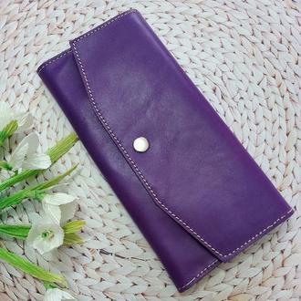 """Кожаный женский кошелек """"Florina"""" фиолетового цвета"""