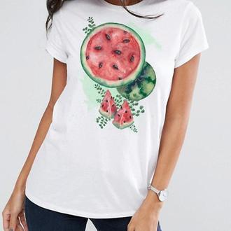 Сочная футболка с арбузом