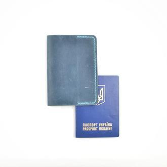 Кожаная обложка на паспорт, чехол для паспорта, обложка с гравировкой, обложка ручной работы