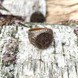 Скандинавское кольцо богини Хель бронза