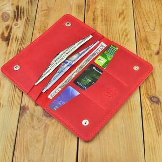 Кожаный кошелек в который поместятся все необходимые карточки