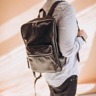 Мужской городской рюкзак из натуральной кожи, кожаный рюкзак на подарок