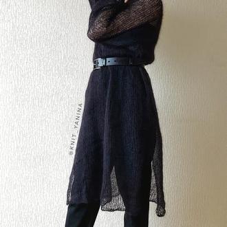 Вязаное платье из кид мохера