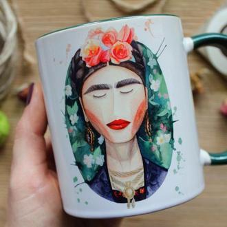 """Чашка с авторской иллюстрацией  """"Фрида"""""""