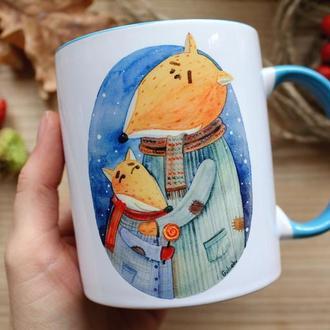 """Чашка с  иллюстрацией """" Батьки"""""""