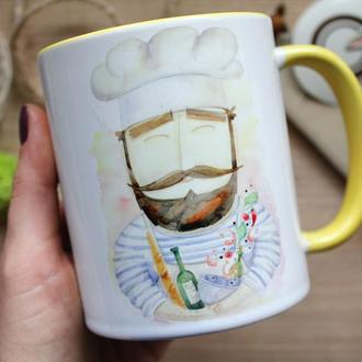 """Чашка с авторской иллюстрацией  """"Мир должен знать, что я готовлю"""""""