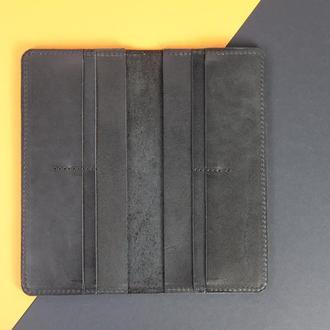Кожаный  кошелек Лонг на 8 карт