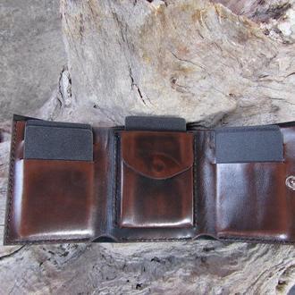 портмоне кожаное мужское,портмоне с мелочницей,портмоне для кредитных карт,подарок мужу парню отцу