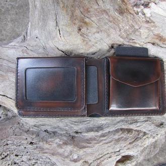 кожаное портмоне для прав,кожаный кошелек для мужчин,мужское кожаное портмоне,именной бумажник