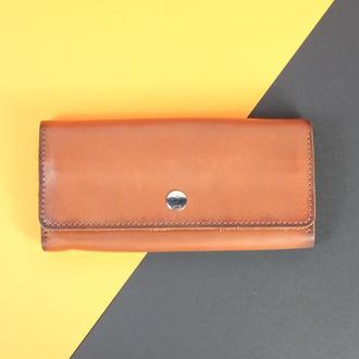 Кожаный кошелек 12 карт Натуральная кожа
