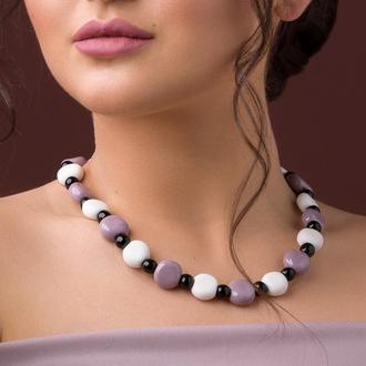 """Нежное ожерелье из керамики """"Caprice"""""""