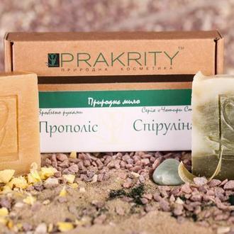 Набор натурального мыла Прополис и Спирулина