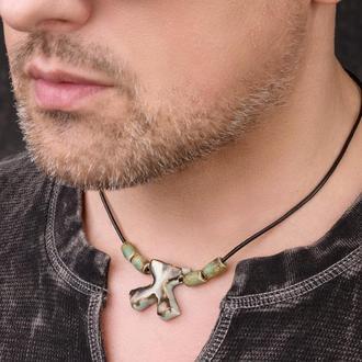 """Мужское ожерелье из керамики """"Blacksmith"""" ручной работы"""