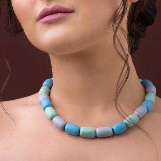 """Яркое ожерелье из керамики """"Carnival"""""""