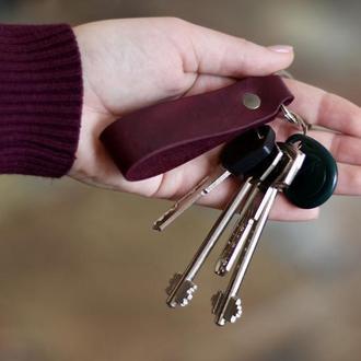 Кожаный брелок для ключей_персонализированный брелок_кожаный брелок