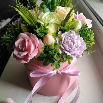 Букет из мыла, Мыльный букет, Розы и Пионы