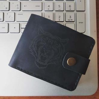 Шкіряний гаманець з гравіюванням, кошелек с гравировкой, іменний гаманець, нанесення зображення