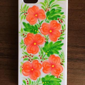 Чехол на мобильный телефон с ручной росписью Петриковка, чехол для iPhone 5, 5S ручная роспись