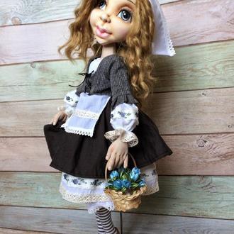 Текстильная шарнирная кукла Золушка