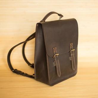 """Рюкзак из натуральной кожи """"Vintage"""" темно коричневый"""