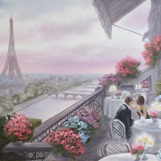 Картина, Вечер в Париже, Живопись, отличный подарок, декор интерьера